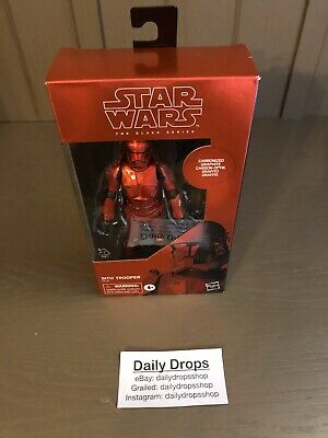 """Hasbro Star Wars The Black Series 6"""" Inch Carbonized Sith Trooper Action Figure"""