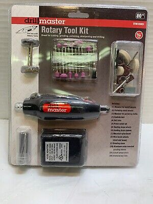 Drill Master Rotary Tool Kit 80 piece - Great for cutting, grinding, polishing