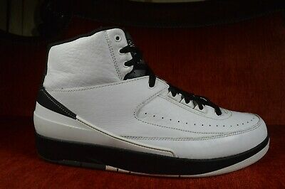 Nike Air Jordan 2 II Retro Wing It White & Black Leather 834272-103 Size 11