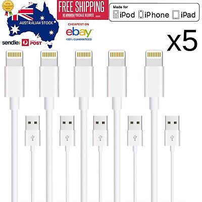 5x Fast Charge Data Cable Charging Cord for iPhone X 8 7 Plus 6 5S iPad Fast USB