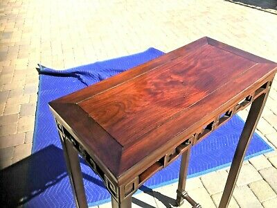 """RARE ANTIQUE 17-18th C CHINESE WOOD SIDE TABLE 41.75""""H"""