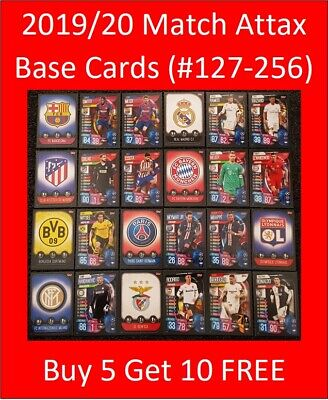 2019/20 Match Attax UEFA Soccer Cards - Base Cards (#127-#256)