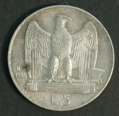 Italy 1930 5 Lire, Nearly Uncirculated