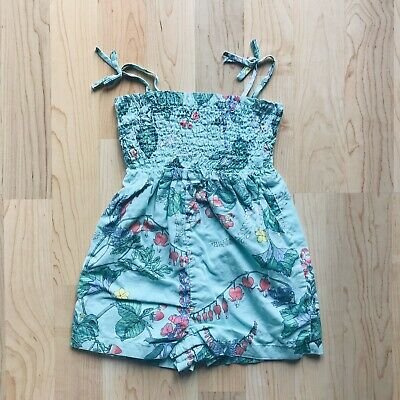Baby Gap Size 2 Years Girls Floral Green Summer Romper Outfit