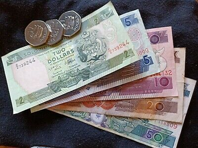 Solomon Island Currency. S/. 1.00 - S/. 50.00 Total (S/. 90.00)