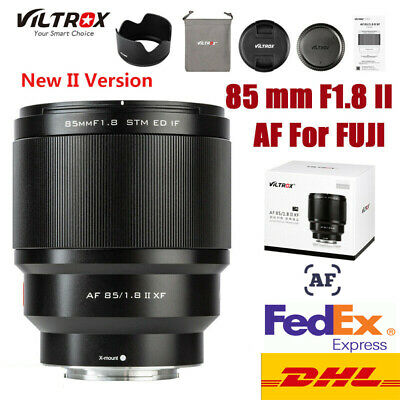 UK STOCK VILTROX 85mm F1.8 AF lens Portrait fixed focus lens For Fuji FX mount