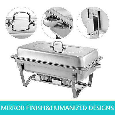 Catering Classic Stainless Steel Chafer Chafing Dish Food Tray Set Buffet