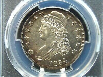 "1834 Capped Bust Half Dollar 50c ""LG DATE, SMALL LETERS"" PCGS AU55 ECC&C, Inc."