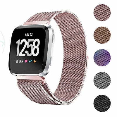 For Fitbit Versa 2 /Versa / Lite Watch Band Milanese Magnetic Loop Wrist Strap
