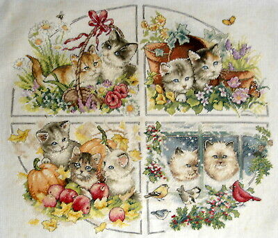 Dimensions Gold Counted Cross Stitch Unframed Picture Four Seasons Kittens