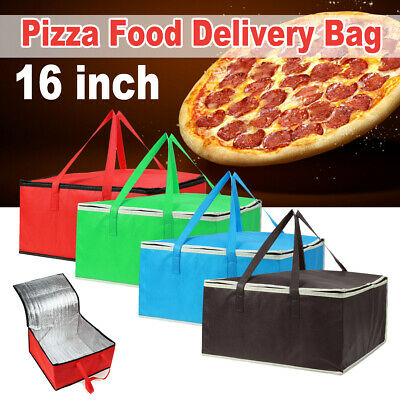 16 INCH Insulated Food Delivery Bag Pizza Backpack Lunch Camping Thermal Holds