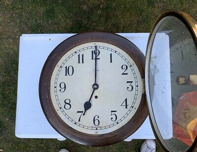 Smiths Antique School House, Railway Station Wind Up Wall Clock