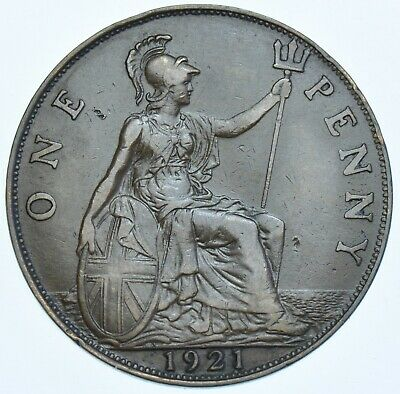 1921 Penny British Coin From George V Ef