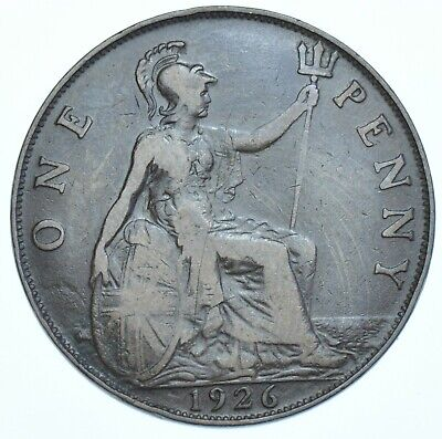 1926 Penny British Coin From George V Gvf