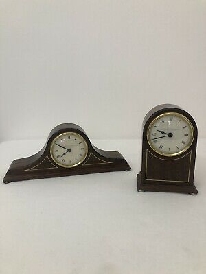 Vintage Wooden Quartz Mantle Clock By Knight Gibbins In Good Working Order X Two
