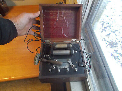 Williams Perfection Electro Magnetic Machine Antique Medical Quack Shock Box