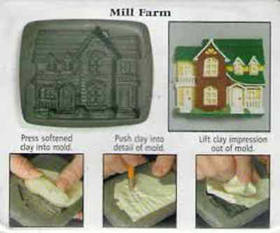 Amaco PUSH MOLD Mould House Series 1 Country #5 MILL FARM HOUSE Sheri Frey 1999