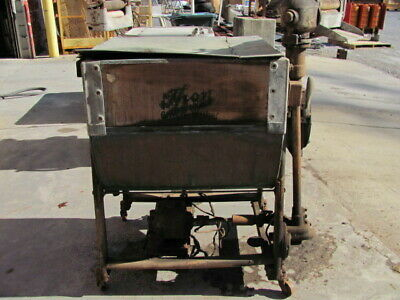 Thor / Hurley Machine Co. Antique Cylinder Clothing Washer - Copper/Wood
