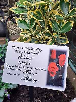 Memorial Stake Grave/Tree Marker Cremation Any occassion Personalised Plaque