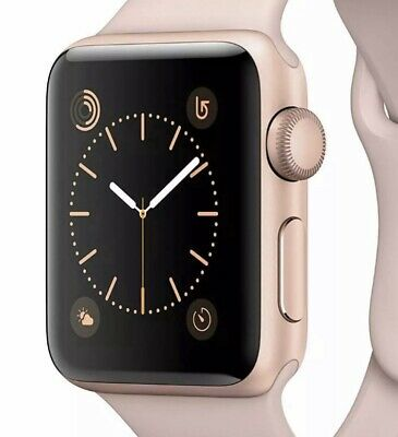 Apple Watch Series 2 38mm Rose Gold with Pink Sports Loop Band (not Silicone)