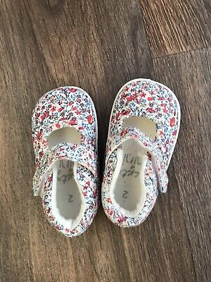 Next Baby Girls Shoes Floral Pattern Size 2 Uk Infant