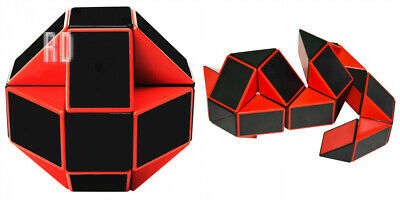 Snake Puzzle 24 Parts Magic Cube Twist Toy for Adults and Kids snake Red