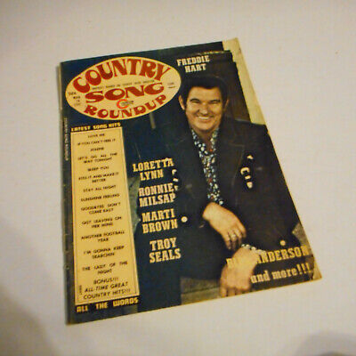 Freddie Hart Covers Country Song Roundup Magazine March 1974 Loretta Lynn