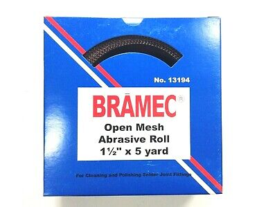 """Open Mesh Abrasive Cloth Roll 1-1/2"""" X 5 yards Cleaning Solder Joint Sandscreen"""