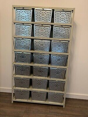 Vintage Swim and Gym Basket Lockers with Shelving