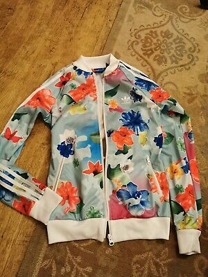 Girls Adidas Floral Jacket 13-14 Years