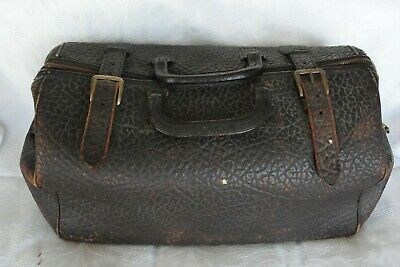 Antique Civil War Leather Doctors Bag and Medical Instruments