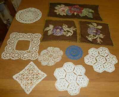 Set of hand made small doilies