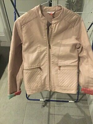 Girls Ted Baker Faux Leather Jacket Age 13 - Pale Pink