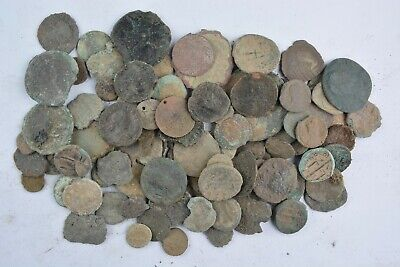 Lot 105 Roman Greek Byzantine bronze coins FOR CLEANING 400 BC - 700 AD
