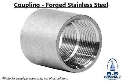 "Coupling 2"" 3000# Forged Stainless Steel 316/316L Threaded Pipe Fitting"