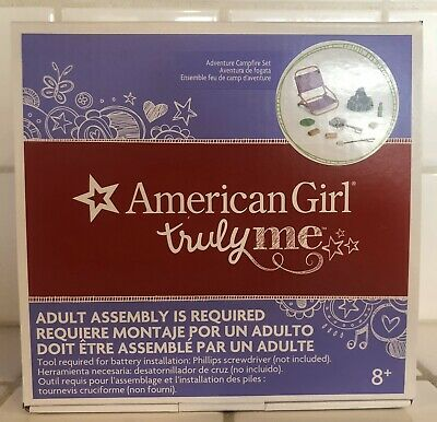 """American Girl TM ADVENTURE CAMPFIRE SET for 18/"""" Dolls Summer Camping Fire NEW"""