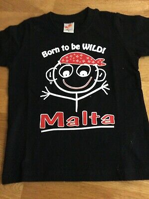 Boys Tshirt Born To Be Wild Age 4 Yrs