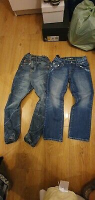 2 Boys Jeans GAP straight and BlueZoo Age 7 And 8 VGC