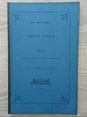 Antique New South Wales BLUE BOOK for 1873- ORIGINAL, Colonial Australia era