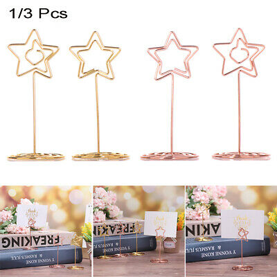 STOBOK 9PCS Table Number Holder Wood Place Card Holder Retro Iron Wire Memo Holder Clip for Home Table Party Decoration