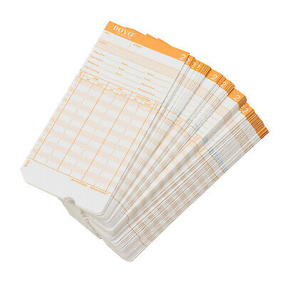 100pcs Monthly Clocking in Cards Clock Cards for Electronic Time Recorders N0B9