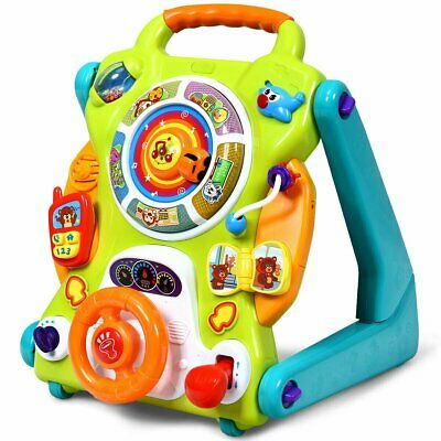3 in1 Kids Activity Sit to Stand Musical Learning Walker