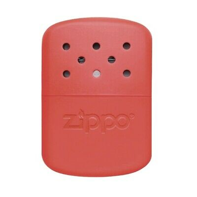 Genuine ZIPPO handwarmer Orange - 12 hour burn time - sleek pocket hand warmer