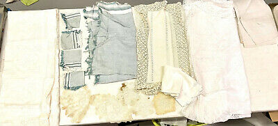 Lot of Vintage Hand Embroidered Linens Tablecloths Table Runners