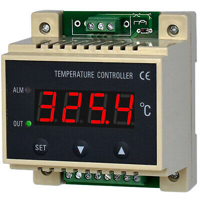 DIN Rail PID Temperature Controller THERMOSTAT HEAT COOL Sensor MAIN+ALM OUT 10A