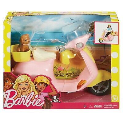 Barbie Pink Moped Scooter for Dolls With Puppy {Ages 3+} **BRAND NEW**