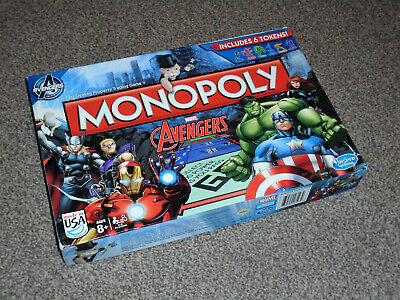 Monopoly Game : Marvel Avengers Edition - In Vgc (Free Uk P&P)
