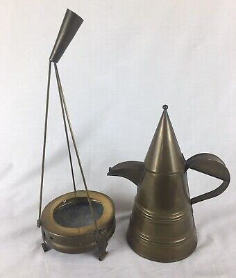 Vintage Bedouin / Arabic Spirit Copper Kettle, With Stand