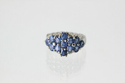 Damenring echtes 925 Silber-Ring Sterling Tansanit blau Schmuck silver jewelry
