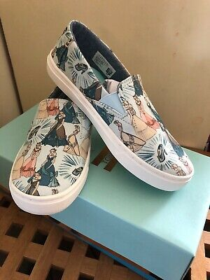 Brand New Boxed Disney X Toms Cinderella Printed Canvus Uk 2 RRP £40